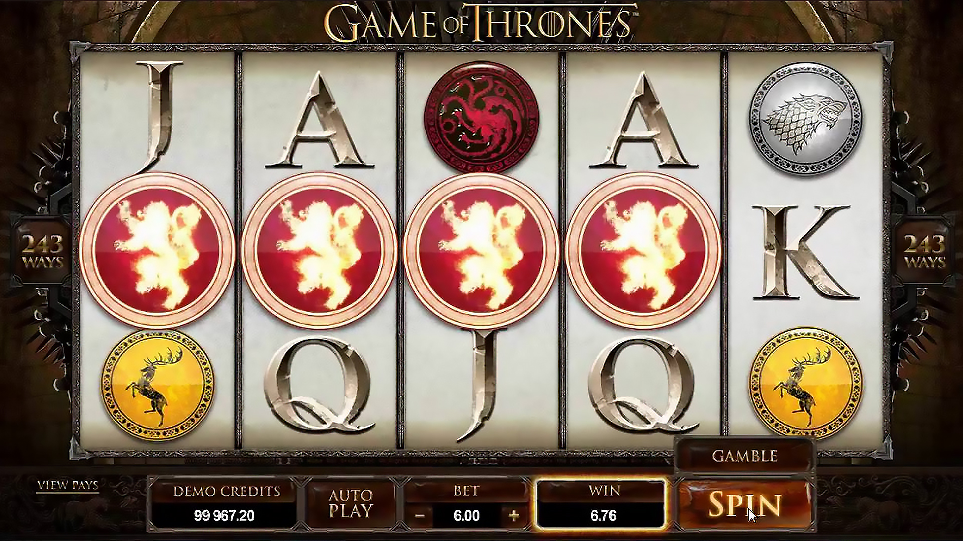 Game of Thrones from Microgaming