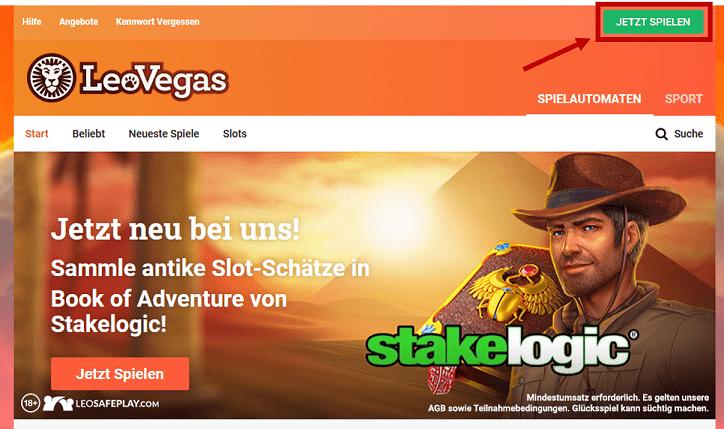 Leo Vegas Konto Erstellung