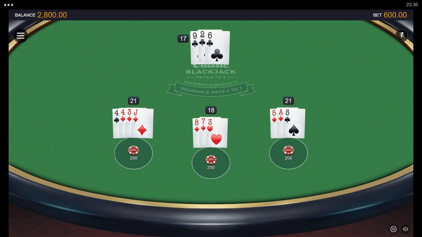 Blackjack online spielen