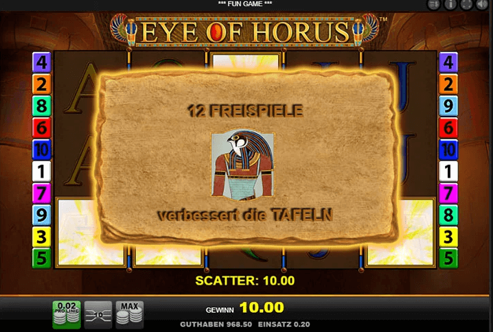 Eye of Horus Demo Spiel
