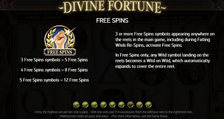 Divine Fortune Freispiel-Funktion