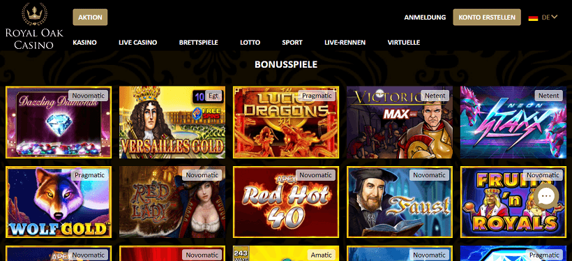 Royal Oak Casino bonus