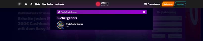 Triple Triple Chance bei Wild Tokyo